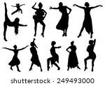 dance silhouettes black girls   Shutterstock .eps vector #249493000