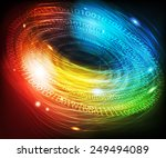 abstract glowing digital... | Shutterstock .eps vector #249494089