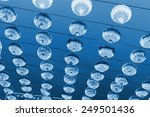 red lanterns in the sky ... | Shutterstock . vector #249501436