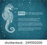 background with seahorse and... | Shutterstock .eps vector #249503200
