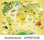 cartoon world map | Shutterstock .eps vector #249507628