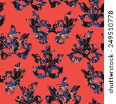 seamless pattern with carnival... | Shutterstock .eps vector #249510778