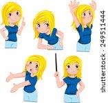 pretty blondie | Shutterstock .eps vector #249511444