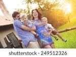 happy young family spending... | Shutterstock . vector #249512326