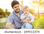cute little boy getting dressed ... | Shutterstock . vector #249512374