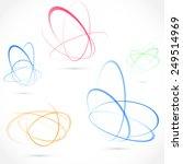 Bright Swirl Atom Orbit Element ...