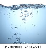 beautiful wave and bubbles of... | Shutterstock . vector #249517954