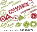 collection of 22 red grunge... | Shutterstock .eps vector #249520474