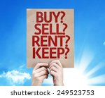 buy  sell  rent  keep  card... | Shutterstock . vector #249523753