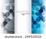 blue and silver vector abstract ... | Shutterstock .eps vector #249525010