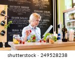 small business owner reading... | Shutterstock . vector #249528238