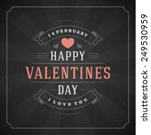 happy valentine's day greeting... | Shutterstock .eps vector #249530959