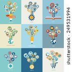 Abstract Trees With Icons For...