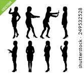 business woman silhouettes...   Shutterstock .eps vector #249532528