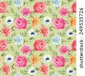 watercolor seamless pattern... | Shutterstock . vector #249535726