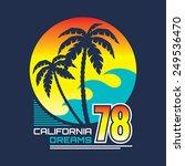 california nights   vector... | Shutterstock .eps vector #249536470