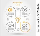 infographic linear cloverleaf.... | Shutterstock .eps vector #249539494