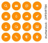 flat icon set for web and...