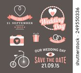 wedding set of label  badges ... | Shutterstock .eps vector #249550336