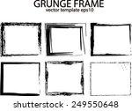 grunge frame set. vector... | Shutterstock .eps vector #249550648