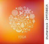 vector yoga logo   icons and... | Shutterstock .eps vector #249558814