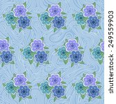 seamless pattern with flowers... | Shutterstock .eps vector #249559903