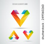 vector abstract logo corporate... | Shutterstock .eps vector #249560260