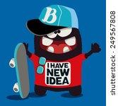 cool monster graphic  | Shutterstock .eps vector #249567808