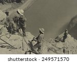 Workers At Boulder Dam Site In...