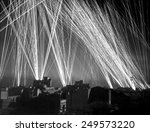Small photo of Defensive Ack-Ack fire in an Allied air raid on Algiers. During the WW2 Operation Torch invasion, French forces in Algeria were still fighting for the Axis. Nov. 8-11, 1942.