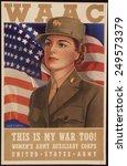 recruiting poster for the women'... | Shutterstock . vector #249573379