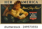 American Ww2 Poster. 'her...
