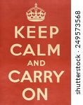 British Ww2 Poster. 'keep Calm...