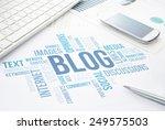 blog concept cloud chart print... | Shutterstock . vector #249575503