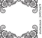 white flower corner  lace...   Shutterstock .eps vector #249576679