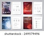set of modern abstract brochure ... | Shutterstock .eps vector #249579496