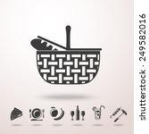 basket icon with shadow and... | Shutterstock .eps vector #249582016