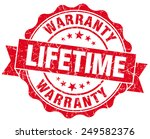 lifetime warranty red grunge...   Shutterstock . vector #249582376
