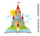 fairy tale castle. vector flat... | Shutterstock .eps vector #249586369