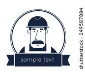 builder character vector... | Shutterstock .eps vector #249587884