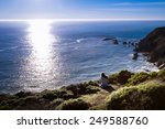 solo girl enjoying the ocean...   Shutterstock . vector #249588760