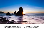 sunset at rodeo beach in marin  ... | Shutterstock . vector #249589024