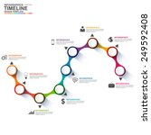 infographics vector design... | Shutterstock .eps vector #249592408