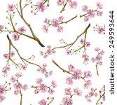 Watercolor Sakura Pattern....