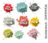 blots   splashes business... | Shutterstock . vector #249594526