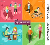 types of activity. high  normal ... | Shutterstock .eps vector #249595360
