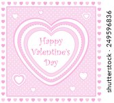 pink and white square heart... | Shutterstock . vector #249596836