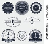 set of vintage nautical badger... | Shutterstock .eps vector #249602008