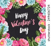 Valentines Greeting Card With...