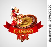 casino background with cards ... | Shutterstock .eps vector #249607120